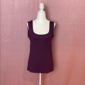 Zara deep purple sleeveless scoop neck tank